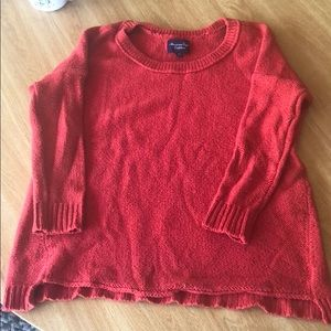 American eagle red sweater size small